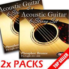 2 PACKS! - Adagio Pro Finest ACOUSTIC GUITAR Strings Light 11-50 - 2x Full Set