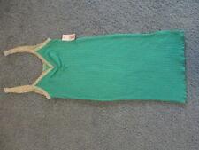 DECREE Size Medium Jr. Green Ribbed Tank Top, NWT