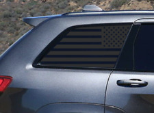 USA Flag Decals Rear windows Fits 2011-2020 Jeep Grand Cherokee Side WK4-WK2
