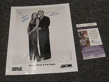 Wheel Of Fortune Autographed 8x10 Photo Vanna White & Pat Sajak JSA Certified