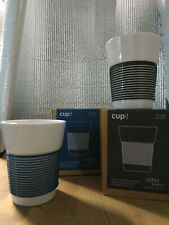 COPPIA TAZZE to go cupit Magic Grip Tazza 0,35 Kahla porcellana BLUE e DARK