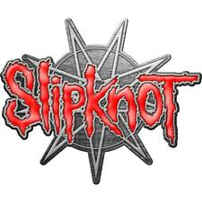 More details for official licensed - slipknot - 9 pointed star metal pin badge iowa corey