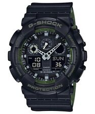 BRAND NEW CASIO G-SHOCK GA100L-1A BLACK/GREEN ANA-DIGI MENS WATCH NWT!!!