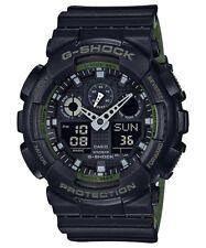 BRAND NEW CASIO G-SHOCK GA100L-1A BLACK/GREEN ANA-DIGI MENS WATCH NWT!!!