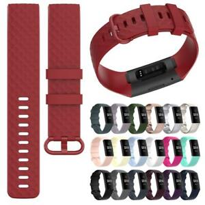 For Fitbit Charge 4/3 SE Replacement Strap TPU Silicone Band Bracelet Wristband