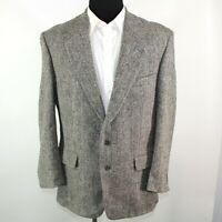 Harris Tweed Mens Sport Coat Blazer Size 40R Multicolor Two Button Herringbone