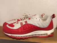 "Men's Nike Air Max 98 Sz 11.5 ""University Red"" White 640744-602 Supreme 1 90 97"