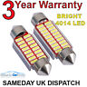 INTERIOR / NUMBER PLATE LED FESTOON 239 38MM 39MM CANBUS BULB IN PURE WHITE 4014