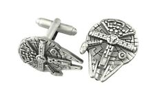 Star Wars Millennium Falcon Fashion Novelty Cuff Links Movie with Gift Box
