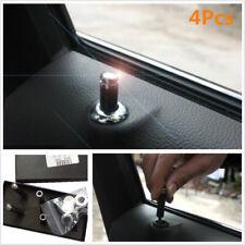 4Pcs Carbon Fiber Interior Dash Door Lock Knob Pins For Auto Car Truck Universal