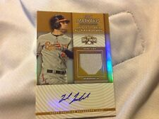 NICK MARKAKIS 2012 TOPPS TRIPLE THREADS JERSEY RELIC AUTO 14/25 Braves Orioles