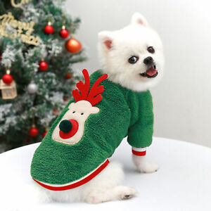 Dog Christmas Costume Breathable Comfortable Universal Cute for Winter