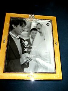 "NEW Wedding Album Godinger Silver Plate ""Silver Diamonds"" Holds 100/4X6 pictures"