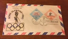 1960 Rome Olympics Olympiad Cachet Envelope - Philippines Stamp First Day Issue