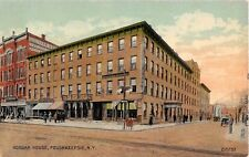 c.1910 Stores Morgan House Poughkeepsie post card Dutchess county
