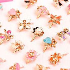 EE_ 2Pcs Children Kids Girls Adjustable Cute Ring Jewelry Party Favor Gifts Pret