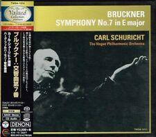 Bruckner Symphony No.7 in E major Carl Schuricht Japan SACD w/OBI NEW
