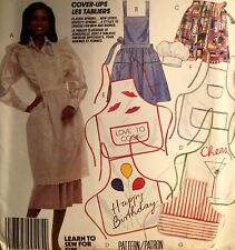 NEW VINTAGE 1987 'MCCALL'S' PATTERN 3424 ALL SIZE APRONS - PINNIES & CHEFS HAT