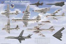 Usaf Strategic Bombers Aircraft Poster (61X91Cm) Educational Wall Chart Art Jet