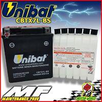 Batería UNIBAT CBTX7L-BS Sin Mantenimiento Piaggio Vespa Primavera 150 2013- >