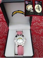 NFL San Diego Chargers women's watch - NEW with Original Box + New Battery+Gift