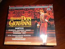 MOZART Don Giovanni HAMPSON HARNONCOURT 3 CD BOX 3 CDs  NEAR MINT