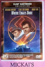 WHERE EAGLES DARE - CLINT EASTWOOD COLLECTION #65186 WARNER BROTHERS DVD PAL OOP