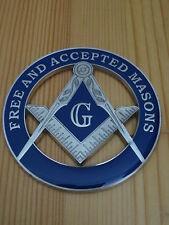 Masonic Auto Car Badge Emblems mason freemason E26 FREE AND ACCEPTED MASONS