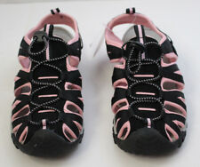 New NWT Womens Pink & Black Sandal Sport Shoe with Pink Breast Cancer Awareness