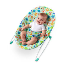 Bright Starts Silly Safari Bouncer Rocker Baby Fun Cradle Seat Infant Chair Play