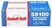 "Darling Food Service 9 x 10-3/4"" Interfolded Foil Sheets - 3000 / CS"
