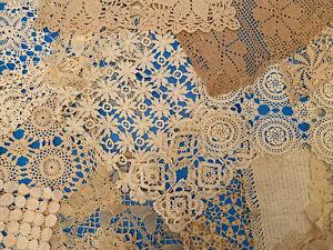 Lot Of 30 Vintage Rectangle Crochet Doilies - E02132111