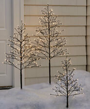 5 Foot Tall Battery Powered Lighted Outdoor Twig Christmas Tree with Timer