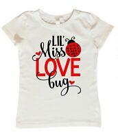 Valentines Day Shirt for Girls, Lil Miss Love Bug Shirt, Girls Valentine Day Top