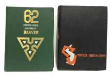 Lot of Vintage Oregon State University Yearbook The Beaver Vol 66 &67 1962-63