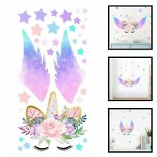 Unicorn Rainbow Wings Stars Children Wall Stickers New Usable Classical Fashion