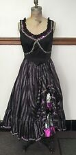 Costume Cosplay Women Can-Can Showgirl Dress, Bloomers; Black, Purple, Silver