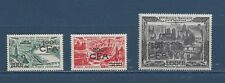 "REUNION - C39 - C41 - MLH - 1949-51 - NEW VALUE &""CFA"" ON FRENCH AIR POST STAMPS"