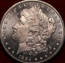 Uncirculated PL 1884-CC Carson City Mint Silver Morgan Dollar