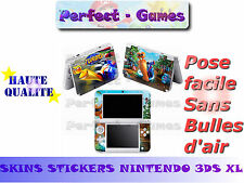 Skin sticker auto-collant vinyl turbo escargot pour console nintendo 3DS XL LL