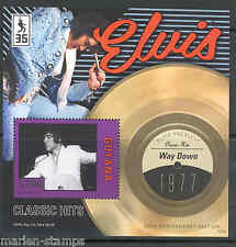 GUYANA NEW ISSUE ELVIS PRESLEY 'WAY DOWN' RECORD S/S  never before offered