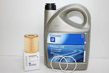 ORIGINAL GM Opel Motoröl 5W30 5W-30 Dexos2 LongLife 5 L + orig Ölfilter 5650354