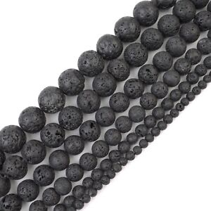 """Natural Gemstone Round Beads For Jewelry Making Loose 15"""" Strands US Seller"""