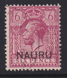 NAURU  1916: f/used 6d purple KGV SG #10 cv £10 · 2 images
