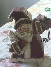 Weihnachtsmann Nikolaus aus Holz Gilde Weihnachtsdeko Shabby Vintage Landhaus