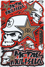 New Rockstar Energy Motocross Racing Graphic stickers/decals. 1 sheet (st194)