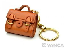 Buckles Bag Handmade Leather 3D (L) Keychain/Keyring *VANCA* Made in Japan 56110