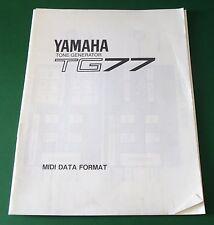 Yamaha Tone Generator TG77 MIDI Data Format