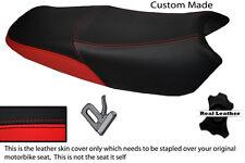 Negro Y Rojo Brillante Personalizada Fits Yamaha Ybr 125'08 Doble Cuero Funda De Asiento