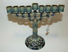 Royal Menorah Bejeweled & Enameled Blue